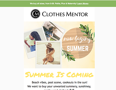 Clothes Mentor Emails