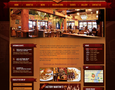 Restaurant home page concept