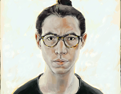 Self-portrait digital painting and timelapse