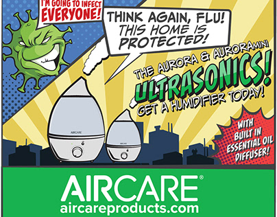 Flu Fighters: Ultrasonic Humidifier Advertisement