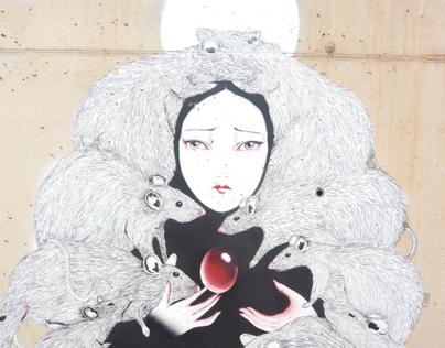 The Hunger. Mural for VANG!! Festival