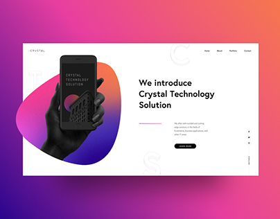 Crystal Tech - Landing Page Design