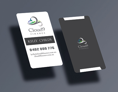 Finance Company Business Card Design