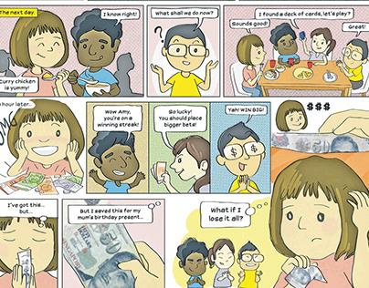 Problem Gambling Comics