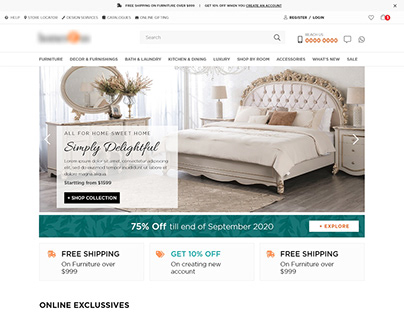 Ecommerce Home Furnishing