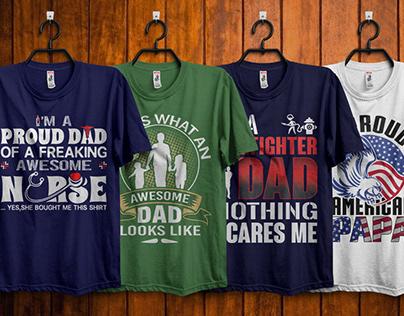 Fathers Day T-Shirt Design Bundle