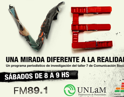 Afiche de programa radial