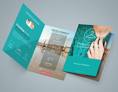 """Visuels & com pour """" pressingprive.com """""""