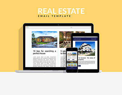Responsive real estate email template design
