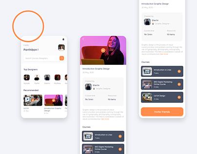 Designers online courses app