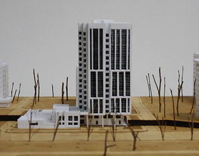 Макет многоэтажного жилого дома