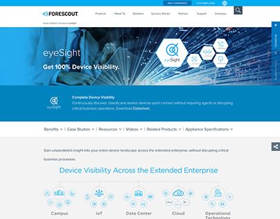 ForeScout Website Redesign
