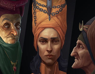 Faces of 1000 Nights