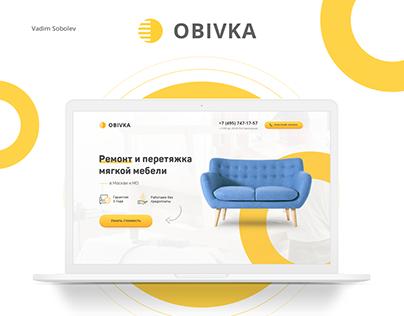 Landing page design for furniture repair