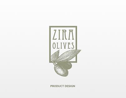 Zira Olives Product Design