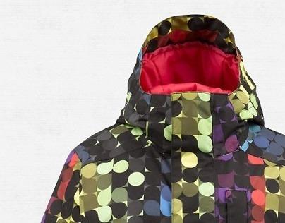 BURTON Geometric Snowboarding Pattern