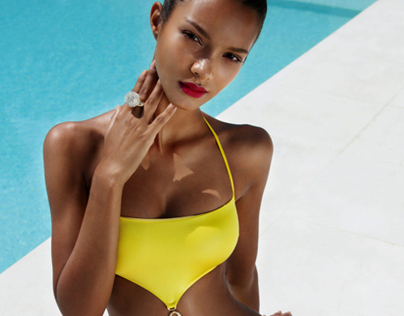 Swimsuits on supermodels