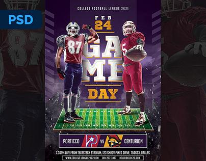 College Football Flyer - PSD Template