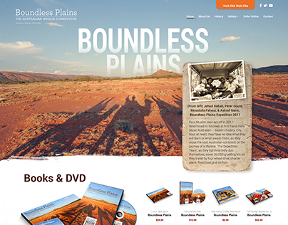 Boundless Plains Website Design