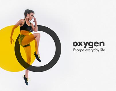 Oxygen Fitness Center   Logo design & Branding