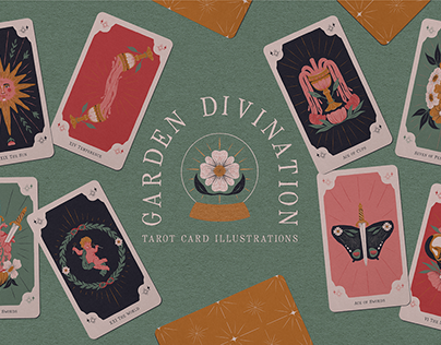 Garden Divination Tarot Card Illustrations