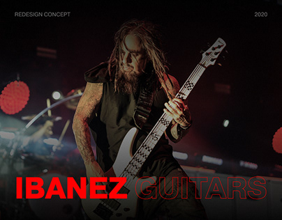 Ibanez — new website redesign concept