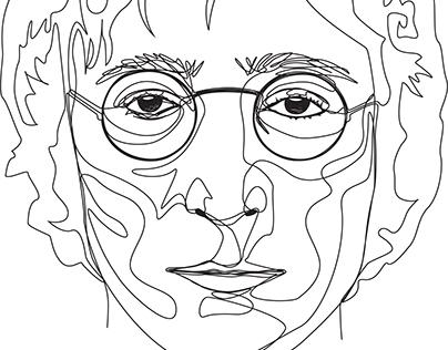 Beatles Continuous Line Portraits
