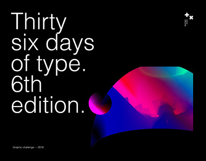 36 days of type. 6th edition. two_xnineteen.
