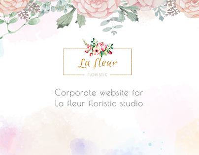 Floristic studio website