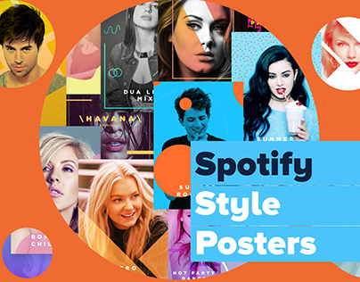 Spotify Style Posters