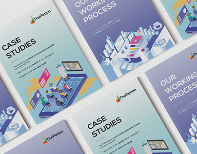 Clean & Modern Brochure Design with Flat Illustrations