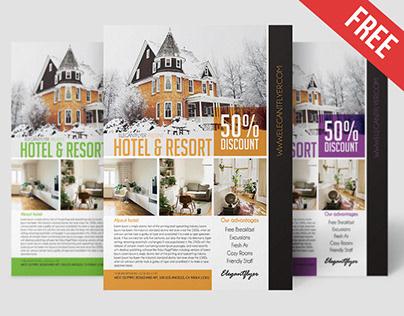 Hotel & Resort – Free Flyer PSD Template