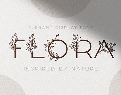 Flóra - A Delicate Floral Font