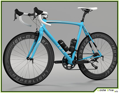 3D Model: Racing Bicycle Animated Hq 001