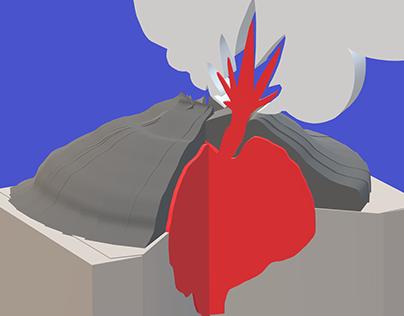 Affiche conférence volcanisme