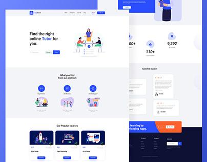 Edulearn - Learning Landing Page, Ui design