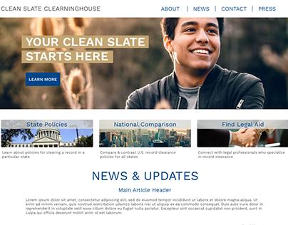 Clean Slate Website Homepage Mockup