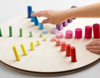 A color wheel for blindand side-blind people.