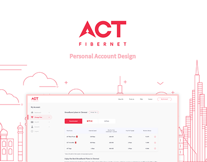 ACT Fibernet Personal Account Redesign