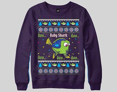 Doo Baby Shark Doo Doo Doo Ugly Christmas Sweater