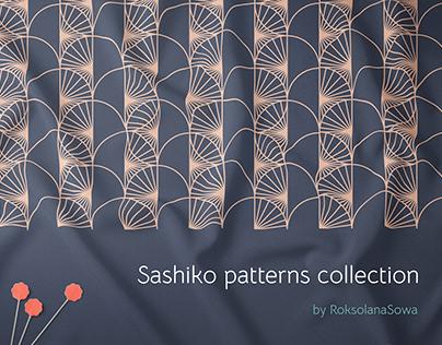 Sashiko inspired pattern collection
