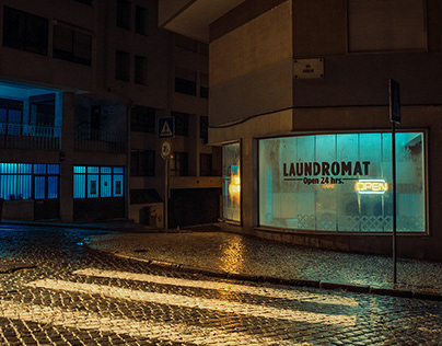 The Laundromat, after hours.