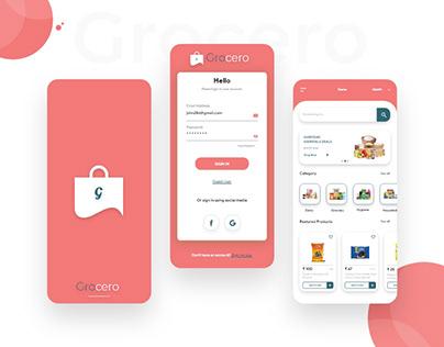 Grocery Shopping App Design