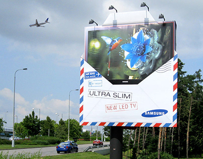 Samsung   Ultra Slim TV Airport Campaign