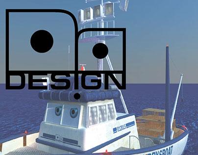 3D Model, Krabby's ship (boat)