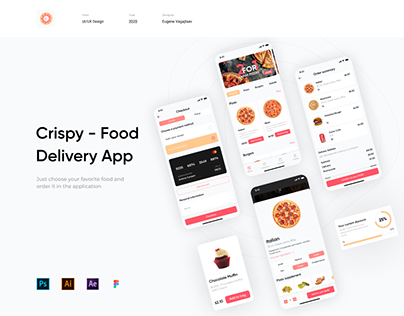 Crispy - Food Delivery App | UI/UX Disign