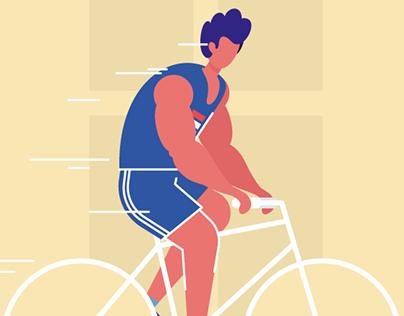 Character set - sportsman