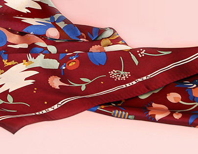 Jorya - illustrated scarf and packagang design