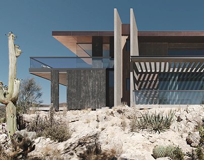 Realistic Architectural Rendering for a Modern Villa