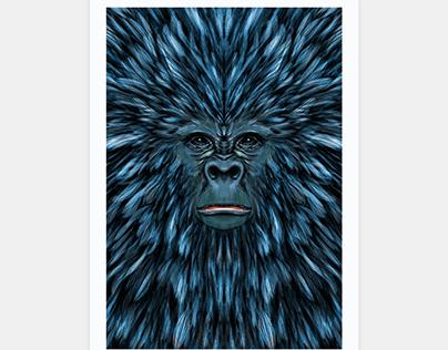 Blue Ape Poster